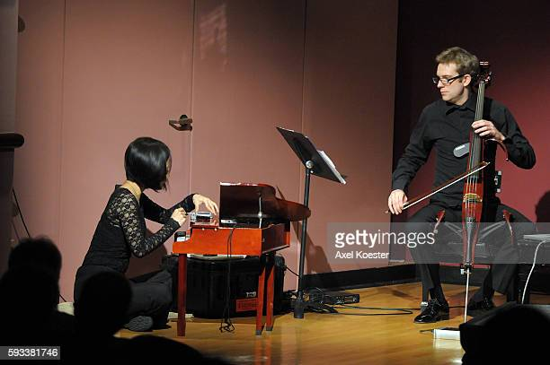 MALIBU CA Cellist Johannes Moser is accompanied by pianist Phyllis Chen during a Sunday afternoon performance of a selection of Stockhausen's...