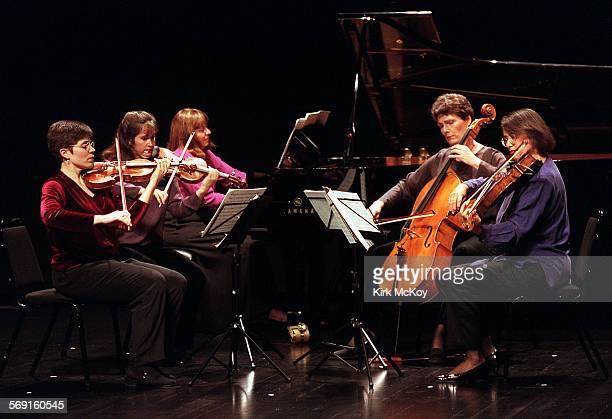 Southwest03KM–– Christine Frank and Agnes Gottschewski Gayle Blankenburg Maggie Edmondson and Jan Karlin are part of a quintet who performed pieces...