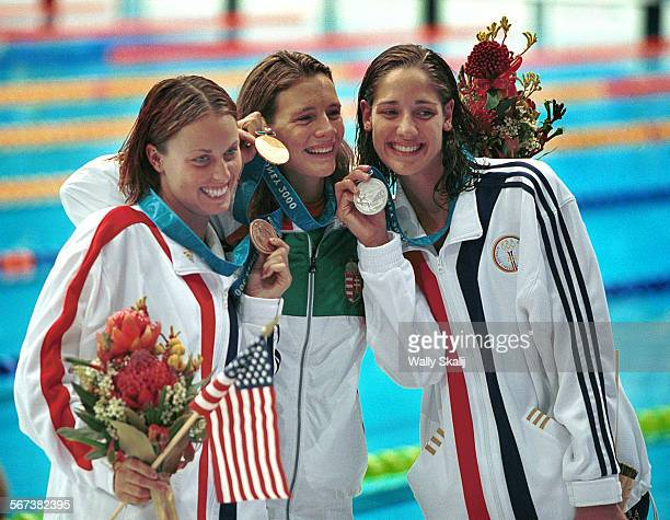 SP0921oly3WS Swimming Finals were held at the Olympic Park Aquatic Center on 9/21/00 The Women's 200M Breaststroke Final was won by Agnes Kovacs of...