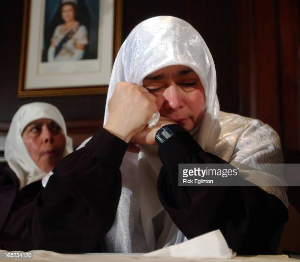 02/09/05reo4Khadr family presser over the imprisonment of 18 yr old Omar Khadr a Canadian Terrorism suspectOmar's mother Maha Elsamnah right and her...