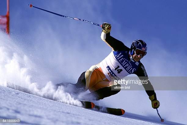 Sportler Ski Alpin NorwegenSkiWeltcup in Sölden Riesenslalom der Herren in Aktion