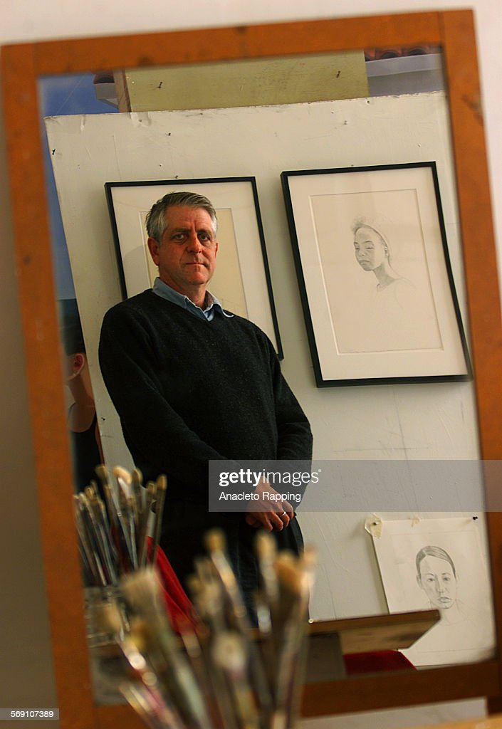 CA0129mccleary1AR Dan McCleary will be having a show of his art work at the Kohn Turner Gallery starting in February 2001 McCleary stands in his...