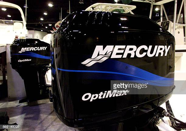 FI0131boats4rm Mercury outboard engines at the Boat Show The 45th annual LA Boat Show will have more than 500000 square feet of displays The event is...