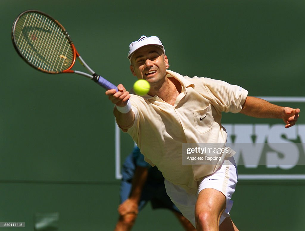 SP 0318 tennis8 AR Andre Agassi defeated Pete Sampras at