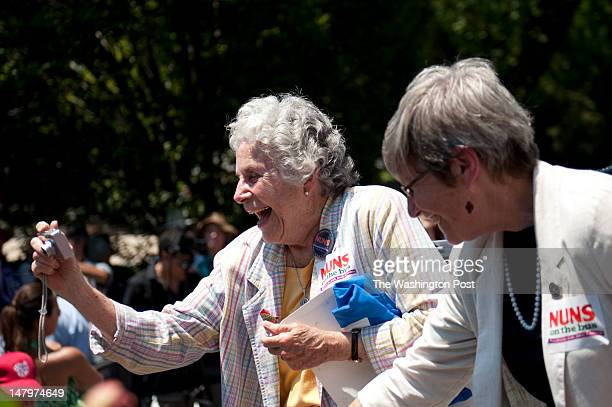 WASHINGTON DC JULY 02Sister Diane Donoghue Founder of Esperanza Los Angeles California and Sister Simone Campbell Executive Director of NETWORK...