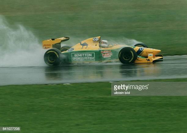 Rennfahrer Auto Formel 1 Dauf Benetton Fordin Donington 1993