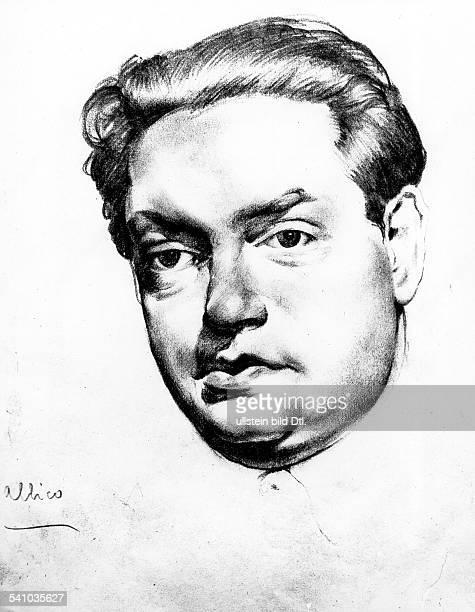 *04091892Musiker Komponist FrankreichPorträt nach einer Bleistiftzeichnung von Fernando Callico um 1931