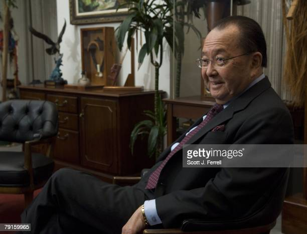 04/16/07Senate Appropriations Defense Subcommittee Chairman Daniel K Inouye DHawaii during an interview in his office in the Hart Senate Office...