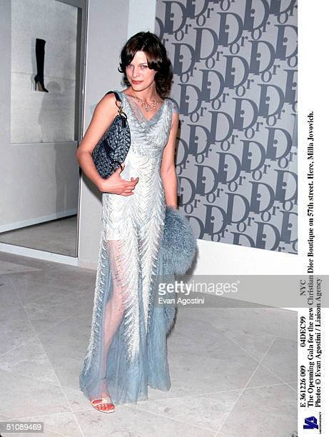 E 361226 009 04Dec99 Nyc The Openning Gala For The New Christian Dior Boutique On 57Th Street Here Milla Jovovich