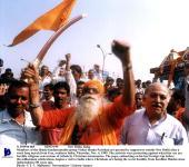 N 359910 005 04Nov99 New Delhi India Members Of The Hindu Fundamentalist Group Vishav Hindu Parishad Are Greeted By Supporters Outside New Delhi...