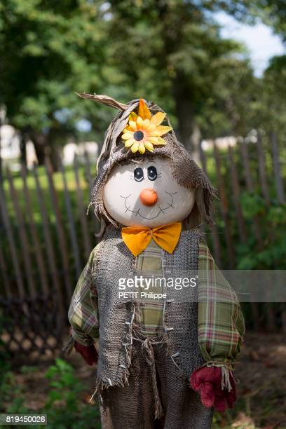 the scarecrow of the castle Pape Clement of Bernard Magrez on september 04 2012 in Pessac France