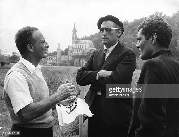 *Schauspieler USAmit Regisseur Fred Zinnemann und Omar Sharif 1963