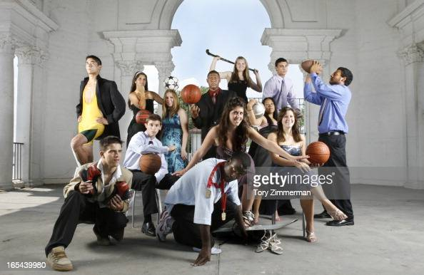 The Prom Kings and Queens of the high school sporting world Front Row from left Wrestler Zarik Furmanov of The Humberview in Bolton Track and Field...