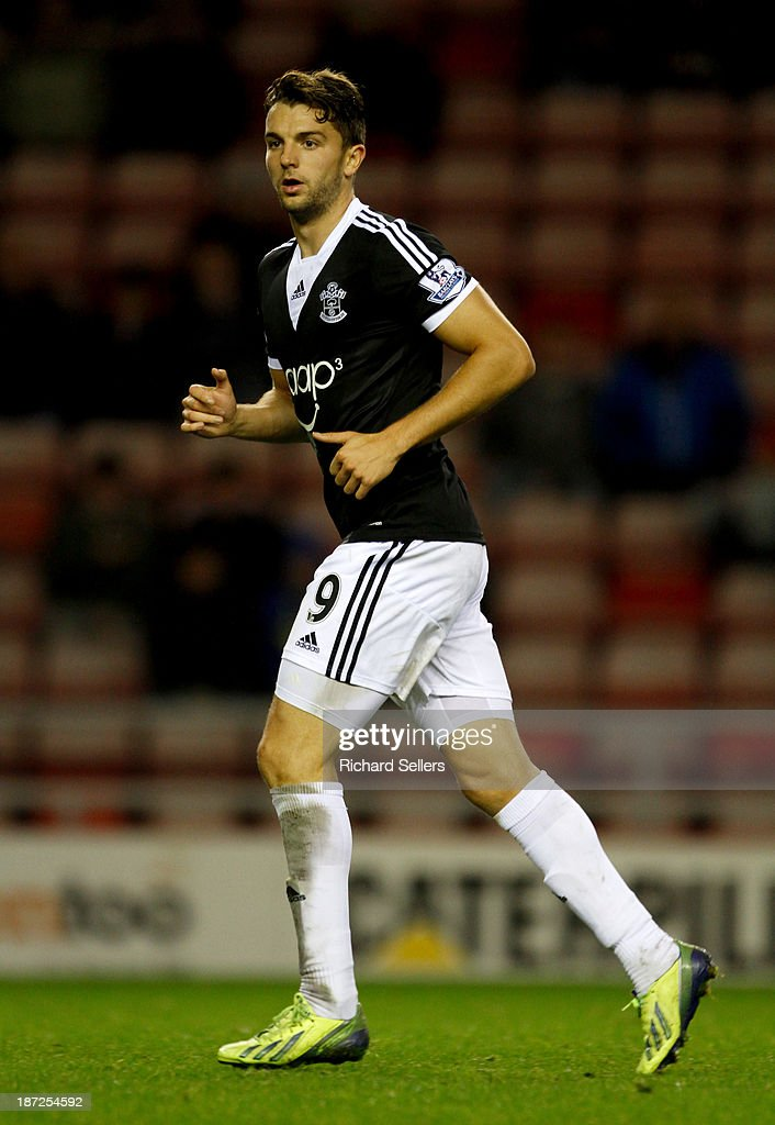 Jay Rodriguez of Southampton during the Capital One Cup fourth Round match between Sunderland and Southampton at Stadium of Light on November 06, 2013 in Sunderland, England.