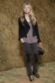 Clemence Poesy attends the Chanel attends the Chanel Pret a Porter show as part of the Paris Womenswear Fashion Week Spring/Summer 2010 at Grand...