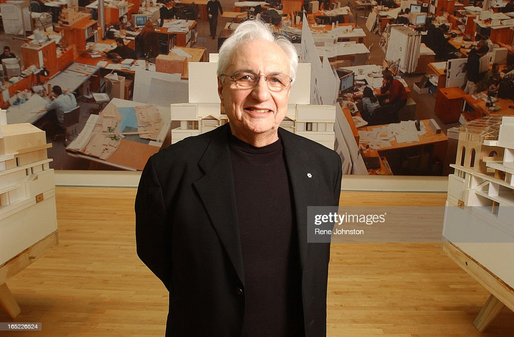 Architect Frank Gehry portrait Art Gallery of Ontario Building at the AGO on Wednesday The background of this photo is His studio in Santa Monica...