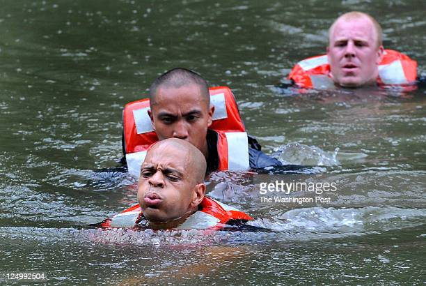 Prince George's County Police Department Tactical Section's Troy Wallace leaded his team on the 35yard water crossing one of the events at the 2nd...