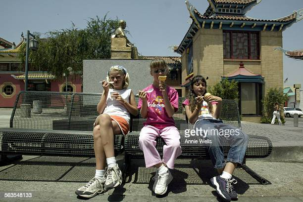 Katelyn Mercer Big City MO Megan Hartnett Pasadena and Paige Hartnett Pasadena enjoy ice cream in Old Chinatown The girls were with a large gathering...