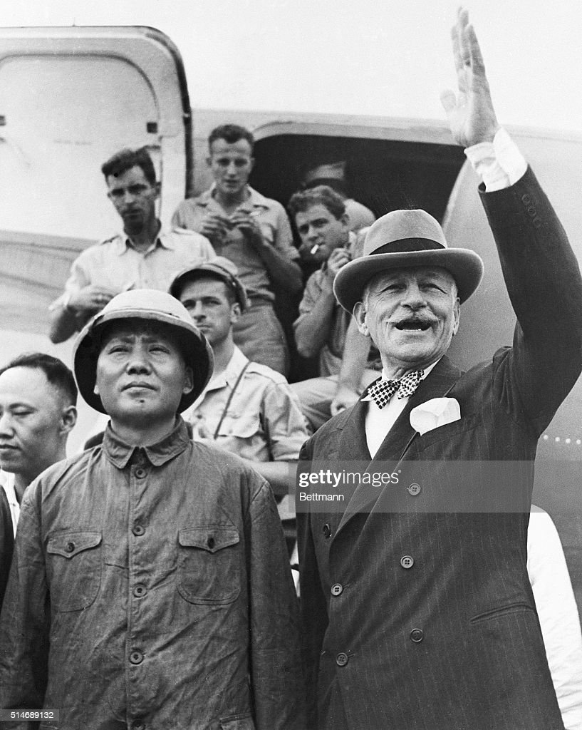 COMMUNIST LEADER TO MEET CHIANG Chinese Communist leader Mao TseTung arrives in Chungking August 28th with US Ambassador to China Major General...