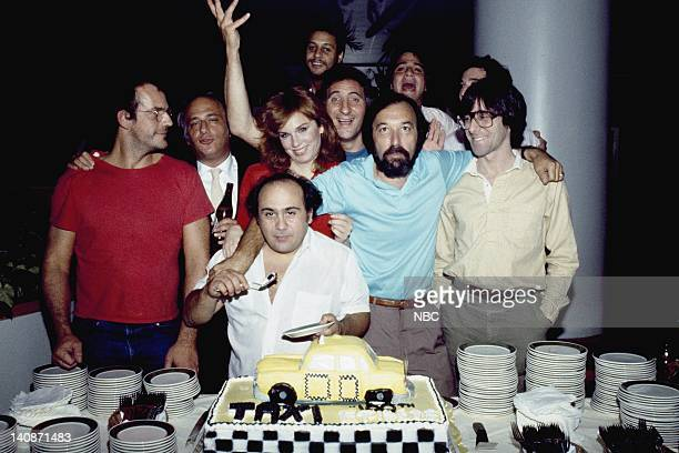 TAXI '100th Episode Party' 1982 Pictured Christopher Lloyd Unknown Danny DeVito Marilu Henner Judd Hirsch James Burrows Tony Danza Unknown Photo by...