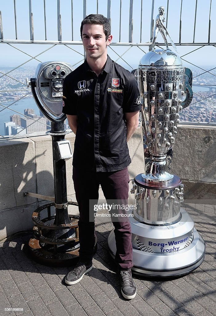 100th Indianapolis 500 Winner Alexander Ross attends The Empire State Building on May 31, 2016 in New York City.