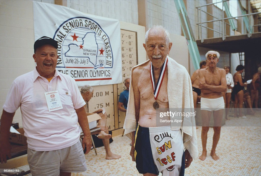 A 100yearold medalist at the National Senior Games or Senior Olympics in Syracuse New York July 1991