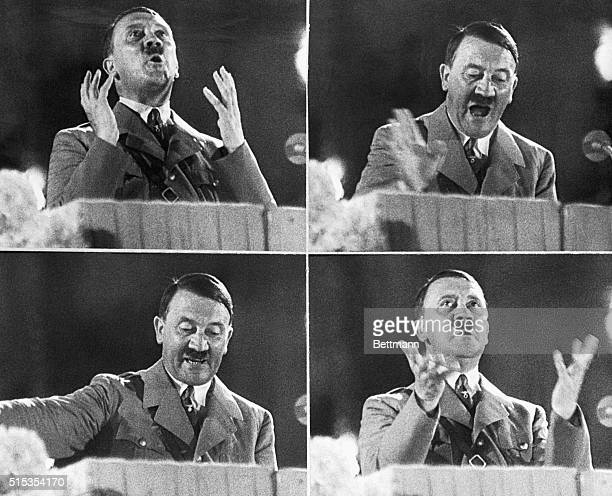 Germany Here are probably the most revealing facial studies ever to be absorbed by the newsreel cameras of Adolph Hitler taken from the march of Time...