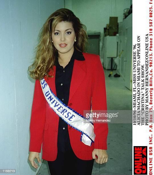 101096Miami FLMiss Universe ''96 Alicia Machado in Miami to appear on the Cristina talk show