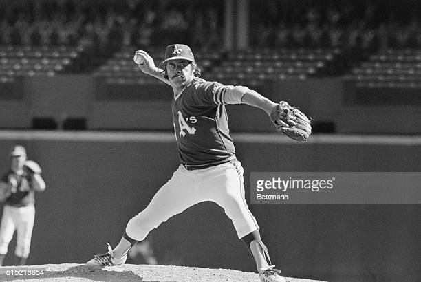 Cincinnati Ohio Oakland's Jim Hunter takes careful aim as he mows them down in the second game of the World Series The A's won 21 to take a...