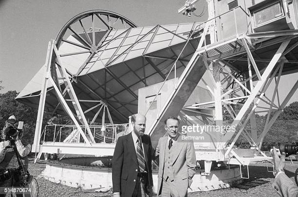 Holmdel NJ Drs Robert W Wilson and Arno A Penzias of Bell Laboratories who championed the 'big bang' theory of how the universe was created and who...
