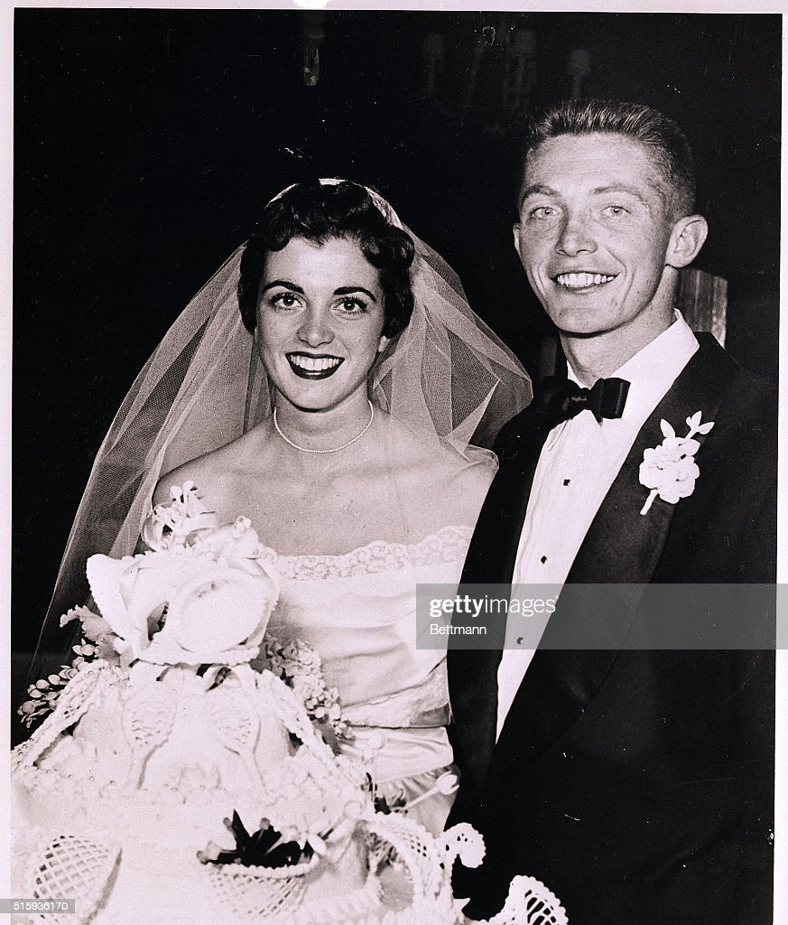 Wedding Portrait of Tony Trabert and Wife