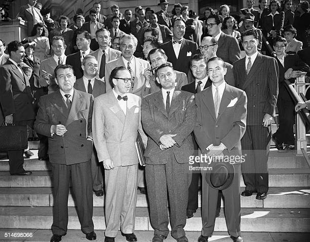 10/27/47Washington DC The group of Hollywood writers and producers summoned to appear before the House UnAmerican Activities Committee in probe of...
