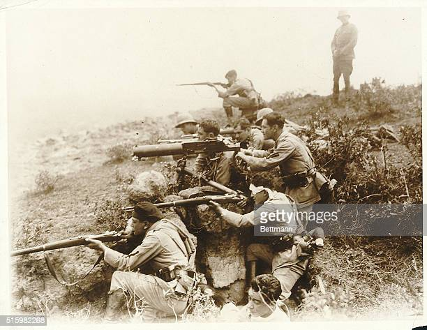 With the Amazon river port of Leticia claimed by Columbia taken over by the Peruvian forces by right of conquest feverish preparations for war are...