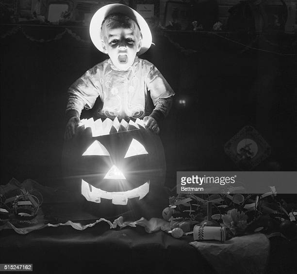 New York New York Robert Chiarello 4 1/2 calls the meeting of the ghosts and goblins to order by the light of a jack o' lantern at a preHalloween...