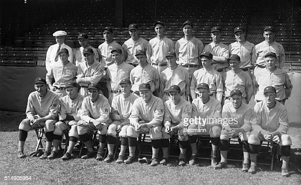 10/3/1924Washington DC The Washington Senators ball team who face the Giants at the opening of the World Series in Washington Sat Oct 4 Back row l to...