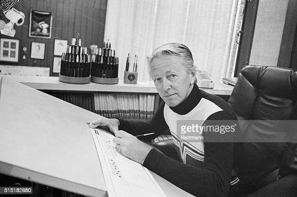 10/3/1975Santa RosaCA Portrait of Charles Schulz creator of the comic strip 'Peanuts' which began life a quarter of a century ago in 9 newspapers...