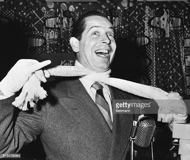 10/6/1948New York New York All dressed up and fit to kill Milton Berle beams after being selected as 'Best Dressed in Television' by radio newspaper...