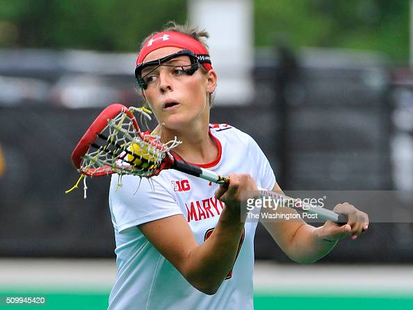 Maryland's Taylor Cummings going against the Massachusetts defense in the first half on May 10 2015 in College Park Md