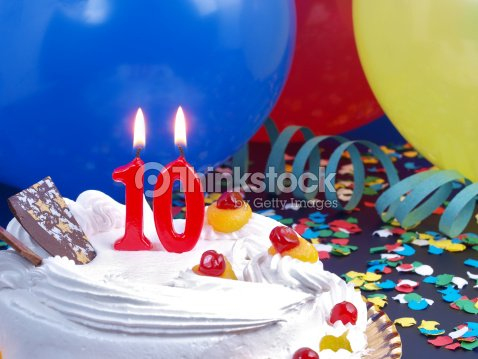 10th. Anniversary : Stock Photo