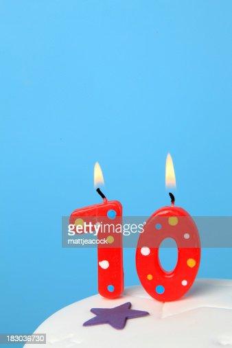 10th Birthday candles