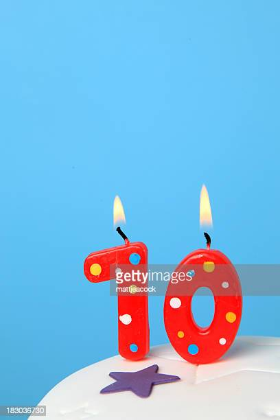 10th Birthday candles