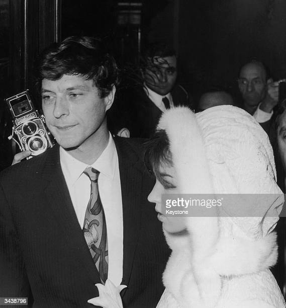 John Paul Getty Jr with his second wife actress Talitha Pol immediately after their wedding at the Capitol Hall in Rome