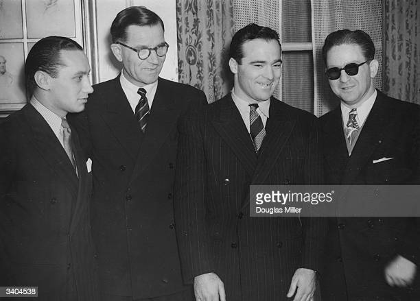 French middleweight boxing champion Marcel Cerdan attends a luncheon in his honour at Grosvenor House Cerdan is to fight Scottish Boxer Bert Gilroy...