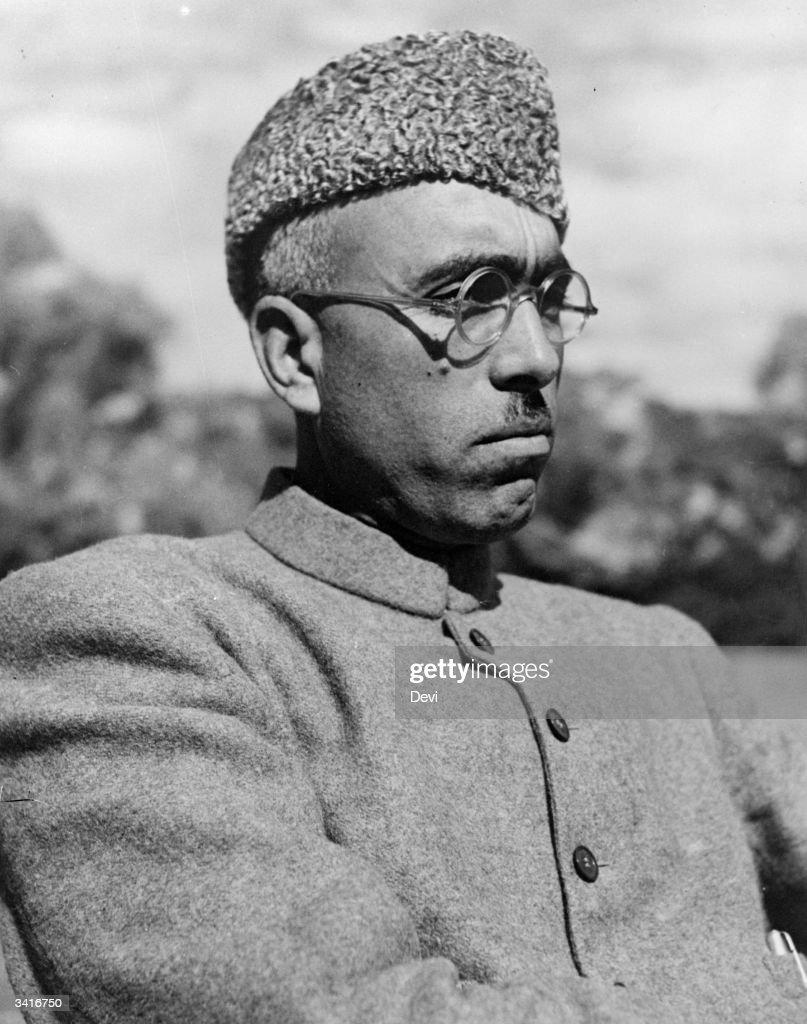 <b>Sheikh Abdullah</b> from Kashmir, a UNO (United Nations Organisation) delegate <b>...</b> - 10th-february-1948-sheikh-abdullah-from-kashmir-a-uno-delegate-to-the-picture-id3416750