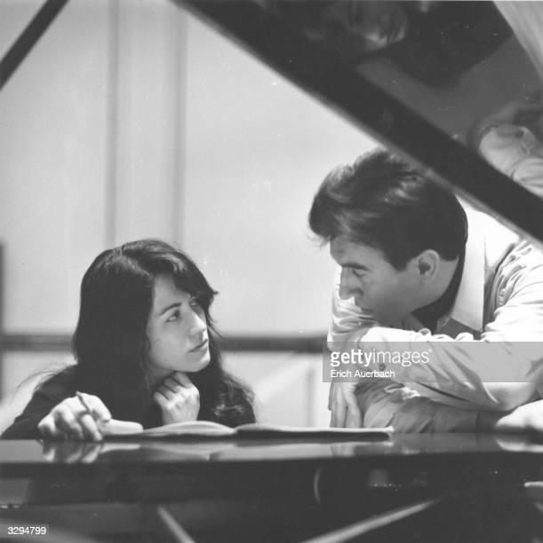 Pianist Martha Argerich and the Italian conductor Claudio Abbado