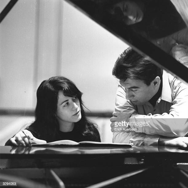 Pianist Martha Argerich with the Italian conductor Claudio Abbado