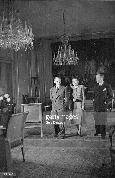 British journalist Tony Terry has a chat with the French Ambassador and his wife Original Publication Picture Post 4471 In Vienna Today A Foreign...