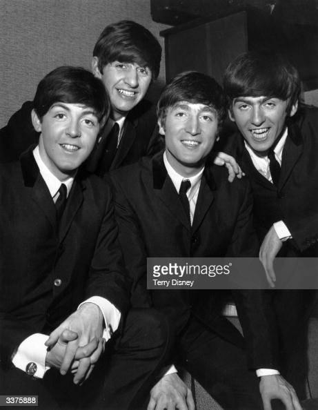 Paul McCartney Ringo Starr John Lennon and George Harrison of British pop group The Beatles