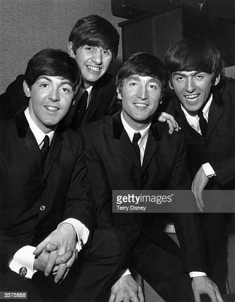 Paul McCartney Ringo Starr John Lennon and George Harrison of British pop group The Beatles