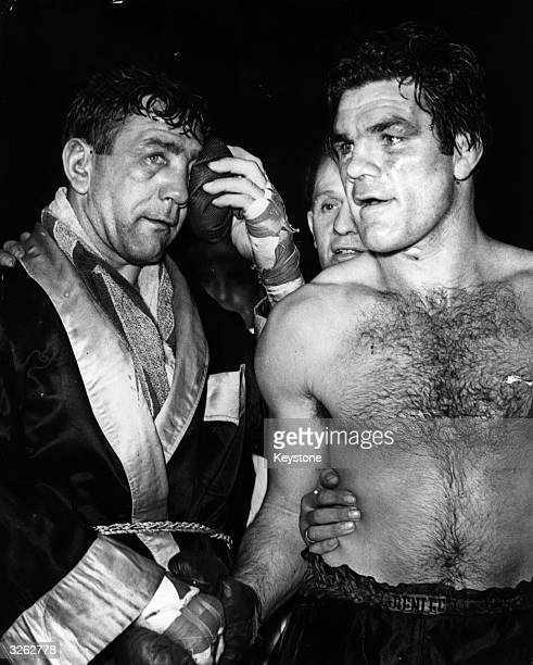 US boxer Gus Lesnevich winning a fight at Harringay